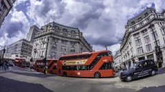 Time lapse of Oxford Circus in London - stock footage