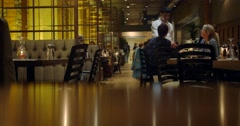 Couple Dining in Restaurant Stock Footage