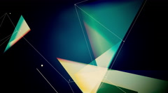 Abstract geometric composition from chaotic slow moving dots and lines 4K Arkistovideo