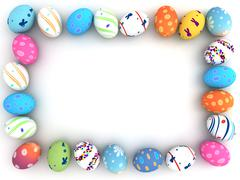 Easter colorful eggs isolated on white background Stock Illustration