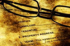 Residential lease agreement grunge concept - stock illustration