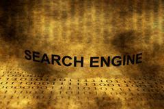 Search engine grunge concept - stock illustration