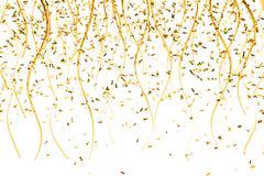 falling gold confetti - stock illustration