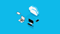 Cloud Computing Concept Stock Footage