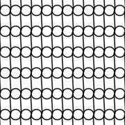 Seamless Black and White Pattern Created from Circles - stock illustration