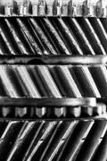 Gears, grunge cogwheels, real engine elements background. Heavy industry - stock photo