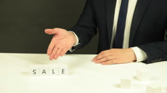 Word 'Sale' Out of Cubes Stock Footage