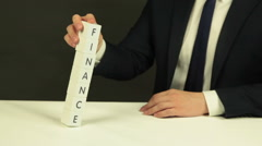 Word 'Finance' Out of Cubes Stock Footage
