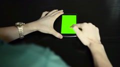 unlock the phone on the table chroma key - stock footage