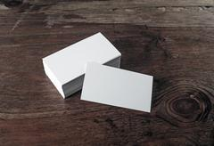 Photo of blank business cards - stock photo