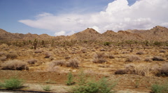 Traveling through the desert Stock Footage