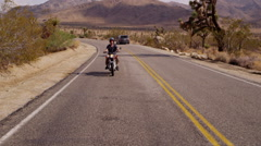 Man riding motorcycle Stock Footage