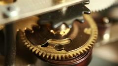 Mechanismthe old alarm clock - stock footage