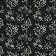 Sea life pattern - stock illustration