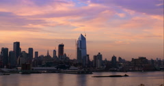 Early Morning on the New York Skyline. - stock footage
