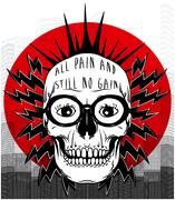 Tee graphic skull poster Stock Illustration