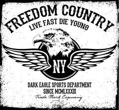 Eagle tee graphic - stock illustration