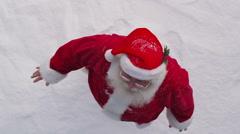 Santa waving - stock footage