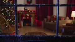 Christmas themed room Stock Footage