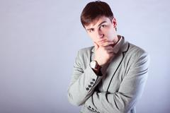 The young man, a businessman, jacket and shirt fashion style, youth direction Kuvituskuvat
