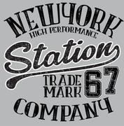 New York  typography, t-shirt graphics, vectors - stock illustration