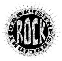 Rock style t shirt graphic design - stock illustration