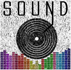 Sound music graphic poster t shirt graphic design Stock Illustration