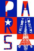 Paris City, Modern T-shirt Typography Graphics, Vector Illustration Piirros