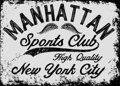 Manhattan New York athletic tee graphic vector Stock Illustration