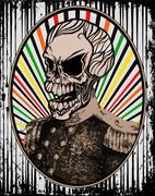 Vintage Skull Military Stock Illustration