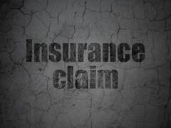 Insurance concept: Insurance Claim on grunge wall background Stock Illustration