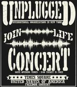Vintage concert typographic for t-shirt ,tee design,poster,vector Stock Illustration