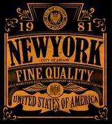 New york Vintage Slogan Man T shirt Graphic Vector Design - stock illustration