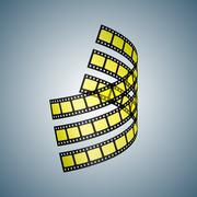 Three film strips - stock illustration