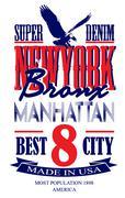 Newyork poster graphic vector design - stock illustration