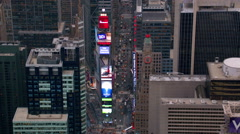 Aerial view of Times Square Stock Footage