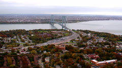 Verrazano bridge in New York City - stock footage