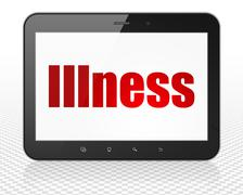Health concept: Tablet Pc Computer with Illness on display Stock Illustration