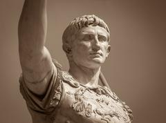 Statue of Roman Emperor Augustus Stock Photos