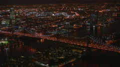 Aerial view of Queensboro bridge Stock Footage