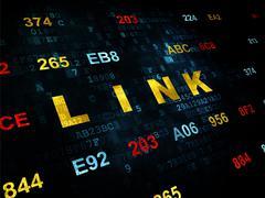 Web development concept: Link on Digital background Stock Illustration