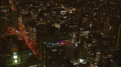 Aerial of rooftop party - stock footage