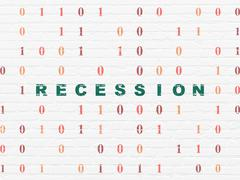 Business concept: Recession on wall background Stock Illustration