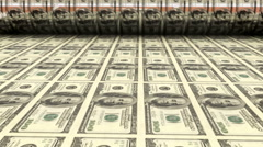 Printing one hundred dollar bills Stock Footage