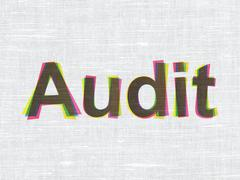 Business concept: Audit on fabric texture background - stock illustration
