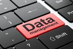 Data concept: Data Management on computer keyboard background - stock illustration