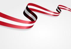 Austrian flag background. Vector illustration - stock illustration