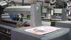 Working equipment for offset printing at printshop. Stock Footage