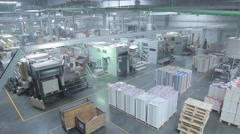 Production Line in a Packaging Factory Stock Footage