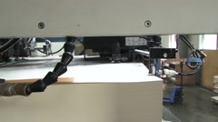 Printing house. Typography. Part of the printing machine. Stock Footage